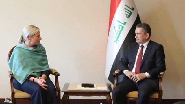 رایزنی الزرفی با نماینده سازمان ملل در عراق